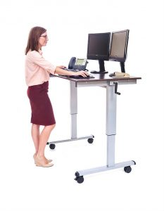 Luxor crank-adjustable standing desk