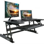 Vivo height-adjustable standing desk converter